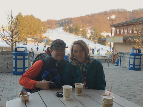 Me and the hubs at Liberty Mountain.