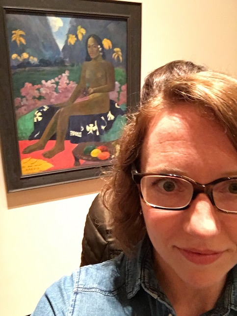 Gauguin painting in Museum of Modern Art, New York City