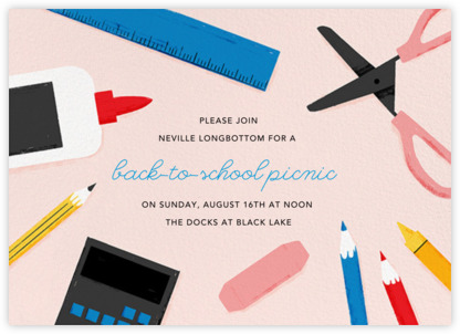 Paperless Post invitation - back to school picnic