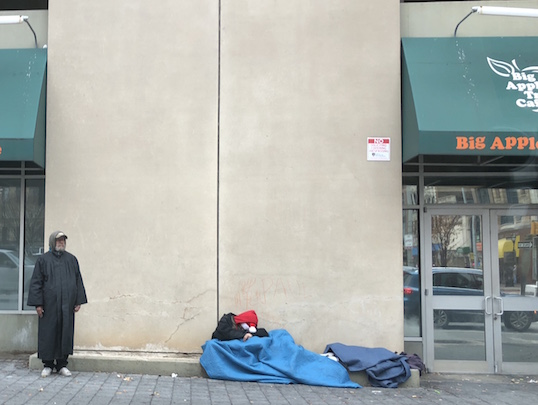 Homeless men in Baltimore