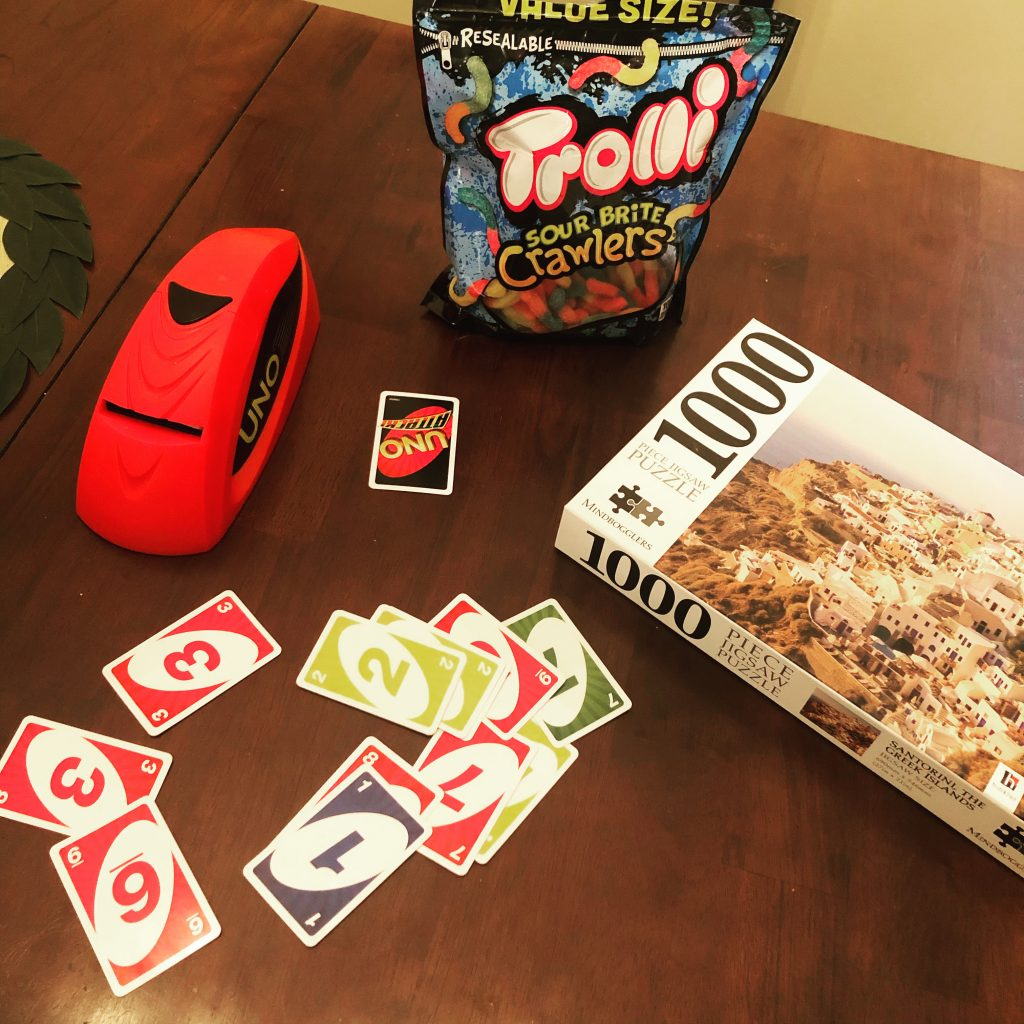 Card games, puzzles, and gummy worms are social distancing essentials